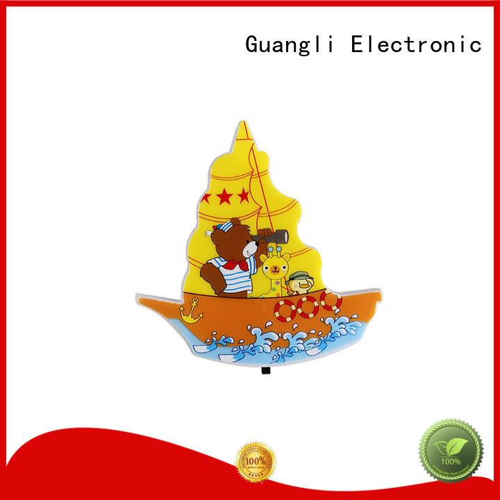 Guangli cartoon kids wall night light wholesale for living room