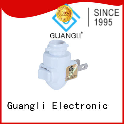 Guangli night light base socket design for wall light