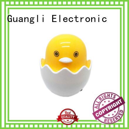 Popular Nightlight Cute Mini Yellow Chicken plug in Night Light Children's Bedroom Creative Cartoon Decor Lamp EU