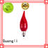 best selling candle holders lamp bulb type E12 led candle light bulb night light
